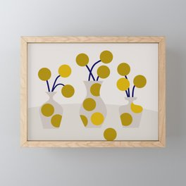 Illustration: cut flowers Framed Mini Art Print