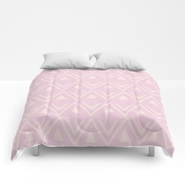 Etched Zig Zag Pattern in Pink Comforters