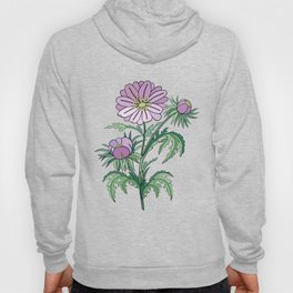 Abstract flowers branch Hoody
