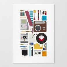 Stuff (white background) Canvas Print