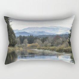 Leaburg Canal in the Fall Rectangular Pillow