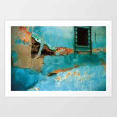 Blue Wall Art Print