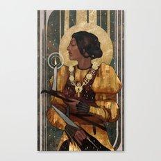 Josephine Montilyet Tarot Card Canvas Print