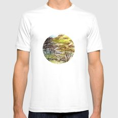 Trees MEDIUM Mens Fitted Tee White