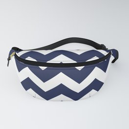 Chevron Navy Blue Fanny Pack