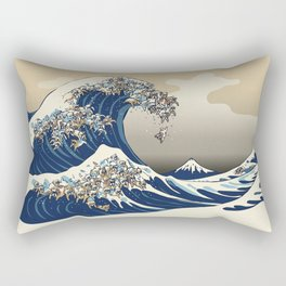 The great wave of english bulldog Vanilla Sky Rectangular Pillow