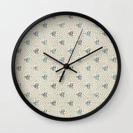 Gold and Abalone Ek Onkar / Ik Onkar pattern Wall Clock