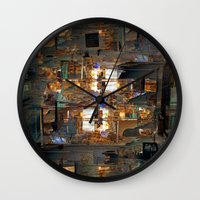 the cure Wall Clocks featuring Antic offer gear cure. by Juan Antonio Zamarripa [Esqueda]