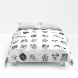 Dog poster Comforters