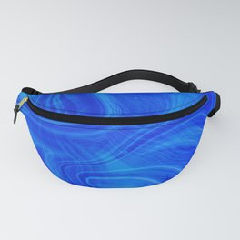 Royal Blue Swirl Marble Fanny Pack