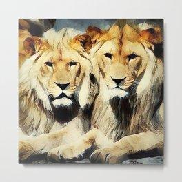 lion's harmoni Metal Print