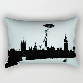 Crossing the Thames Rectangular Pillow