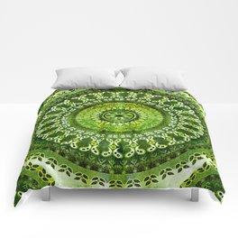 Vintage Lime Mandala Comforters
