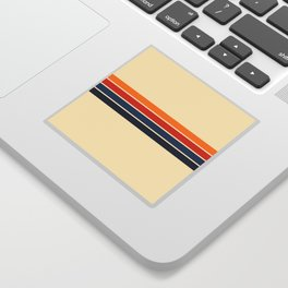 Classic Retro Stripes Sticker