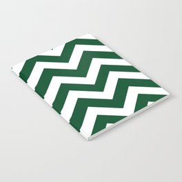Forest green (traditional) - green color - Zigzag Chevron Pattern Notebook