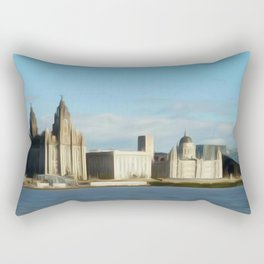 Liverpool Waterfront (Digital Art) Rectangular Pillow