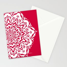 Red Bucket of Flakes Stationery Cards