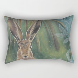 The Fox and the Hare Rectangular Pillow
