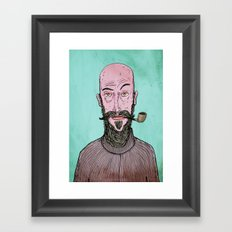 The Hipster Framed Art Print