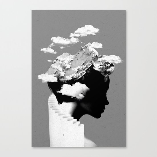 It's a cloudy day Canvas Print