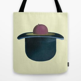 A single plum floating in perfume served in a man's hat. Tote Bag