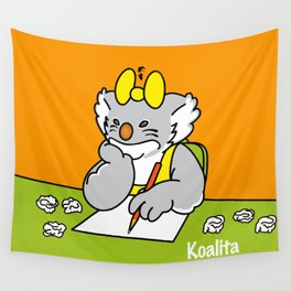 Koalita at school Wall Tapestry