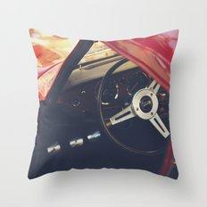 Fine art print, classic car, triumph, spitfire, color photo, still life, interior design, old car Throw Pillow