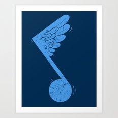 Flying Note Art Print