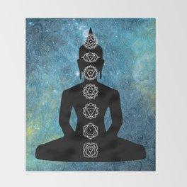 Sacred Geometry - Chakras Aligned Throw Blanket