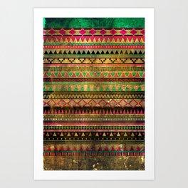 Magic tribal pattern Art Print