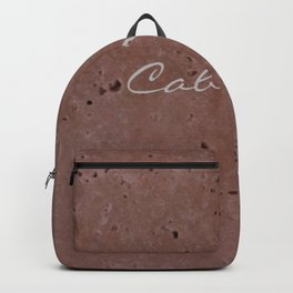 Cabernet Wine Red Travertine - Rustic - Rustic Glam Backpack