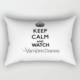 Keep Calm And Watch The Vampire Diaries Rectangular Pillow