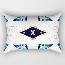 X Triangle Textile Pattern Rectangular Pillow