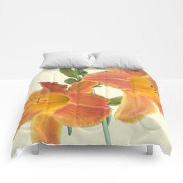 Garden Blooms - Orange Alone Comforters