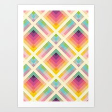 Retro Rainbow Art Print