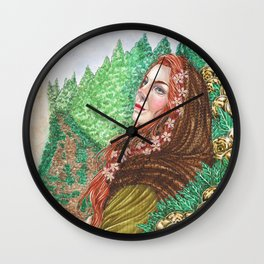 Iduna and the golden apples Wall Clock