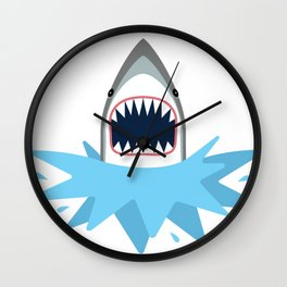 Cartoon Shark Splash Wall Clock