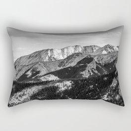 Black and White Mountains Rectangular Pillow