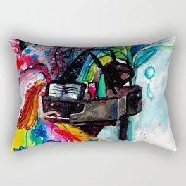 Piano Player Color Splash Rectangular Pillow