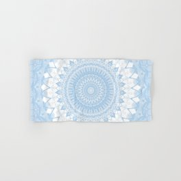 Baby Blue Boho Mandala Hand & Bath Towel
