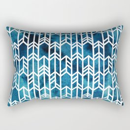 Indigo Dyed Arrows Rectangular Pillow