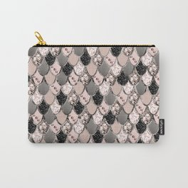 Rose Gold Blush Mermaid Princess Glitter Scales #1 #shiny #decor #art #society6 Carry-All Pouch