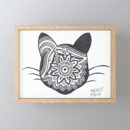 Cat Mandala Framed Mini Art Print
