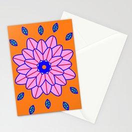 Flower Power Orange Vibes Stationery Cards