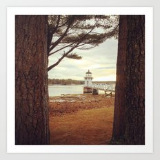 Doubling Point - Maine Lighthouse Art Print