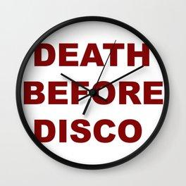 Death Before Disco Wall Clock