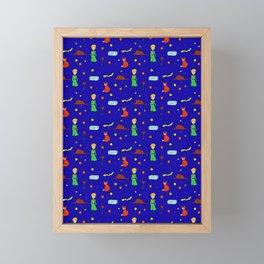 """The Little Prince"" Pattern Framed Mini Art Print"