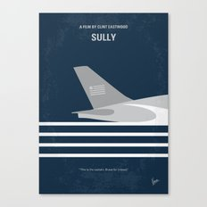 No754 My Sully minimal movie poster Canvas Print