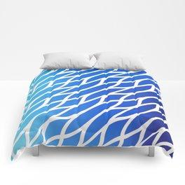 Blue Diagonal Pattern Comforters