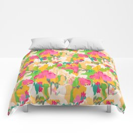 Ikat Floral Comforters